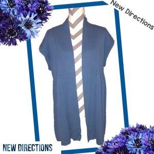 NEW DIRECTIONS Cornflower Blue Sweater Kimono